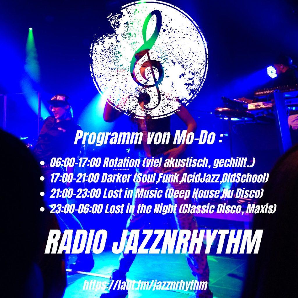 Radio Jazznrhythm Sendeplan